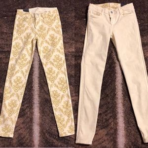 REVERSIBLE Bleulab yellow tulle print jeans 25
